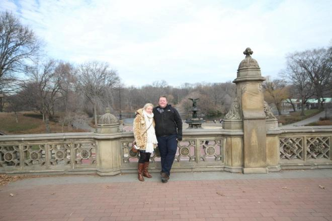 Us in Central Park - just after the proposal <3